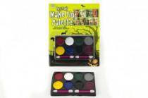 Barvy obličejové na kartě né kombinace karneval - mix barev