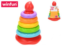 Pyramida 20 cm s barevnými kroužky 5 ks