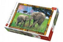 Puzzle Savana Sloni 3000 dílků 116x85cm