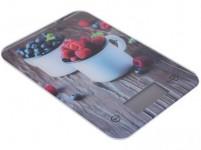 váha kuchyňská plochá 5kg digitální, tvrz. sklo, KUCHYNĚ - mix variant či barev