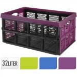 přepravka skládací 51x34x23cm plastová, nosnost 20kg - mix barev