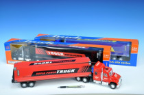 Auto kamion kontejnerový 57cm na setrvačník - mix barev