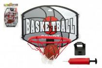 Koš basketbal + míč a doplňky plast 40cm