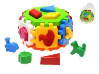 Kostka vkládací šestihran 15,5x14,5x10 cm geometrické tvary a zvířátka