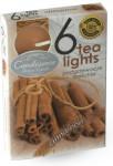 Svíčka čajová - aroma skořice - 6 ks