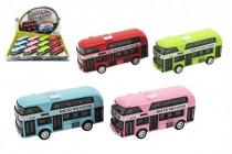 Autobus patrový kov/plast na zpětné natažení 9,5cm - mix barev