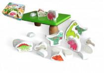 Balanční hra Prehistoric pro nejmenší dřevo v plechové krabici