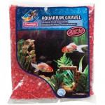 Písek akvarijní Neon červený Flamingo 1 kg, 4 -7 mm - VÝPRODEJ