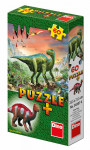 Puzzle 60 dílků dinosauři + figurka - mix variant či barev