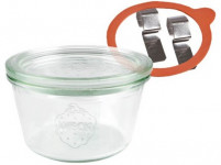 sklenice zavařovací 370ml WECK + víčko, těsnění, 2 spony