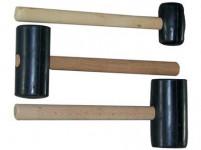 palička gumová 800g, 65mm, dřevěná rukojeť