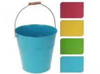 květináč dekorační 24x23cm plech - mix barev
