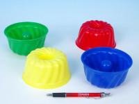 Formičky Bábovky kulatá plast 12x7cm 12m+ - mix barev