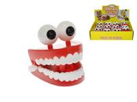 Skákající zuby s očima 7 cm na klíček