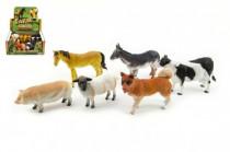 Zvířátka domací farma plast 11cm - mix variant či barev