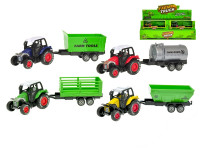 Traktor s vlečkou 17,5 cm kov zpětný chod - mix variant či barev