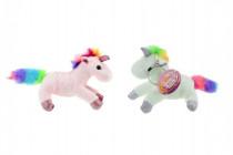 Přívěšek jednorožec kůň plyš 14cm - mix barev