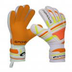 Spokey INTENSE Brankářské rukavice oranžové vel. 4