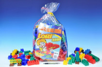 Stavebnice LORI 250 plast 250ks v plastovém pytli