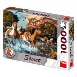 Puzzle Koně 15 skrytých detailů 1000 dílků 66x47cm