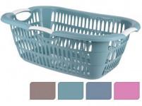 koš na čisté prádlo 60x40x22cm plastový - mix barev