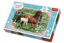 Puzzle Koně cválající 41x27,5cm 160 dílků