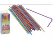 brčka s kloubem pruhy 5x210mm (150ks) - mix barev
