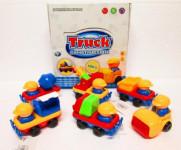 Autíčko baby stavební plast 11cm mix druhů na setrvačník - mix variant či barev