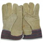 rukavice TERNO tkanina/žlutá štípenka (12ks)