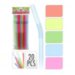 brčka s kloubem NEON 10x260mm (20ks) - mix barev