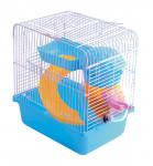 Klec hlod. křeček plast Villa Boy modrá Tommi 23x17x26cm - VÝPRODEJ
