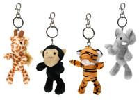 Přívěsek na klíče zvířátko safari 12-13 cm plyšové - mix variant či barev