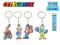 Přívěsek na klíče Čtyřlístek 5 cm na kartě - mix variant či barev