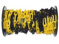 řetěz CON200 plastový, ČER-ŽL (25m)