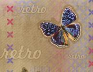 Balicí papír 100 x 70 cm 2 ks, RETRO-motýl, DITIPO - VÝPRODEJ