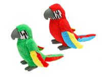 Papoušek plyšový 23 cm - mix barev