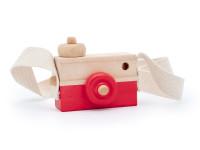 Foťák - dřevěná montessori hračka, červená