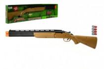 Pistole/Puška/Brokovnice lovecká + 4 náboje plast 77cm na baterie