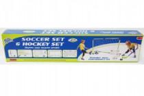 Branka fotbal + hokej 2v1 s doplňky plast