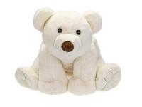 Lední medvěd plyšový 37 cm sedící
