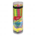 Trojhranná tužka s gumou 48 ks Fluo