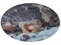 talíř plechový pr.33cm KOUZLO VÁNOC