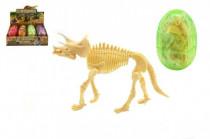 Dinosaurus ve vajíčku model plast 9cm - mix barev