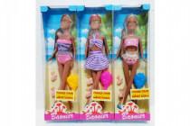 Panenka kloubová měnící barvu s doplňky plast 29cm