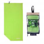Spokey SIROCCO XL Rychleschnoucí ručník 85x150 cm, zelený s odnímatelnou sponou