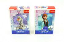 Minipuzzle Ledové království/Frozen 13x20cm 54 dílků - mix variant či barev
