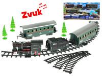 Vláček s vagóny 66 cm + dráha 110 cm na baterie se zvukem s doplňky