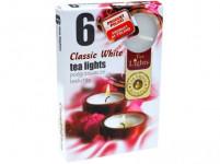 svíčka čajová BÍ (6ks) (hoří 6x3-4hod)