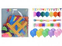 dekorace PÁRTY sada 14díl. (3+1x girlanda, 10x balonek)
