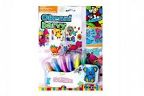 Okenní barvy třpytivé pro holčičky 6ks + předlohy na kartě